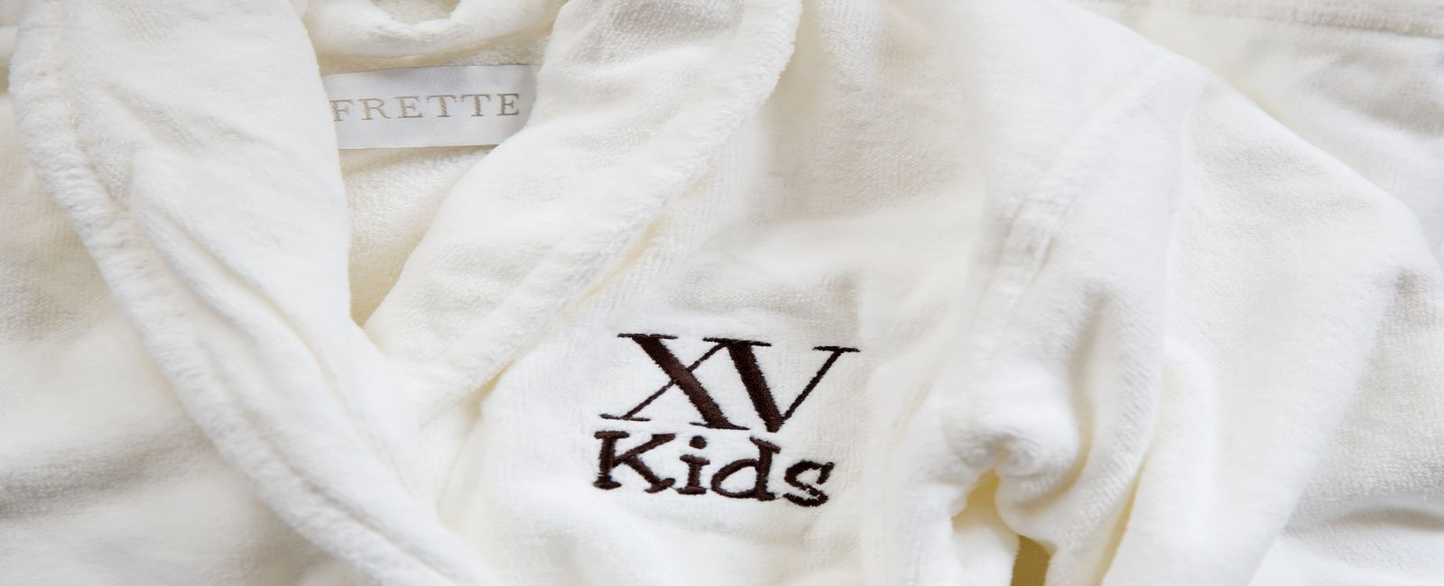 customized frette bathrobes for kids