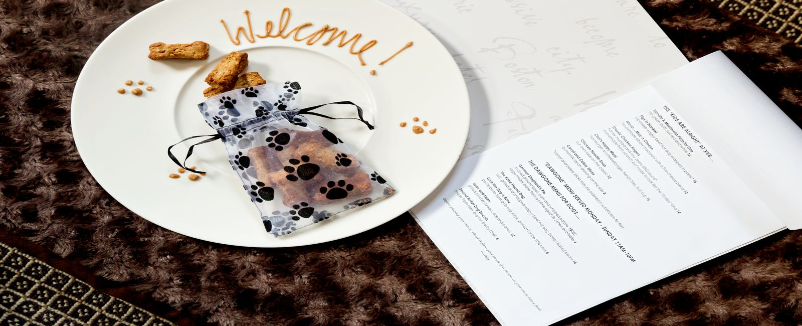 Sample of our dog welcome amenity featuring a secret peanut butter recipe that is human friendly and dog approved.
