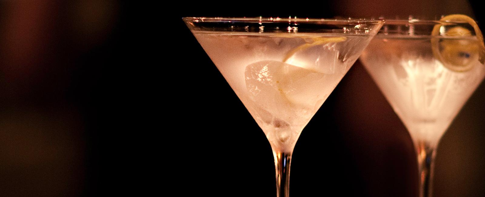 Two lemon martinis