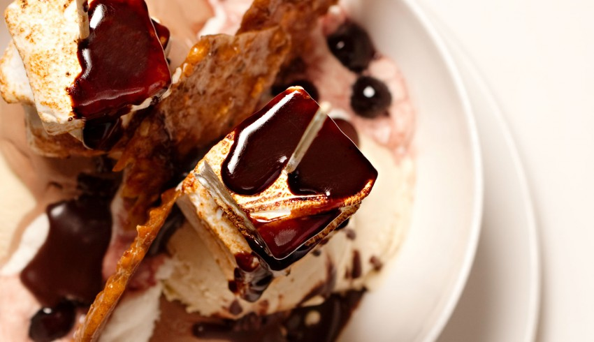 chocolate covered smores dessert that is available in our restaurant
