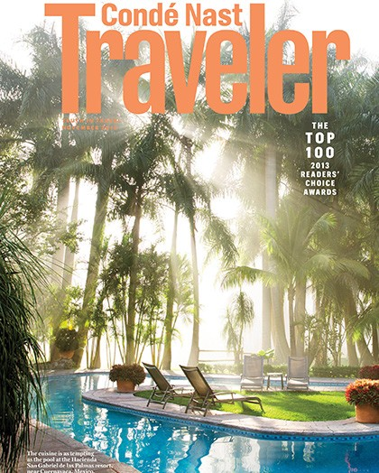 photograph of the cover of the magazine from Conde Nast Traveler which dates back to 2013