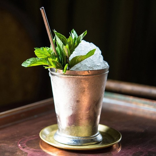 ice cold mint julep cocktail.