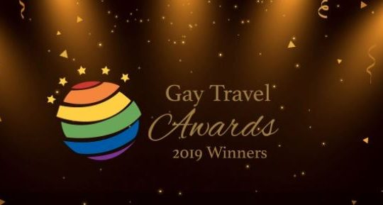 Logo of the Gay Travel Awards for it's 2019 Winner