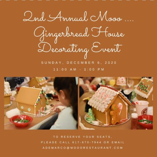 flyer with event details about the gingerbread decorating